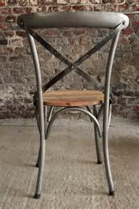 chaise bistrot industrielle bois et m 233 tal