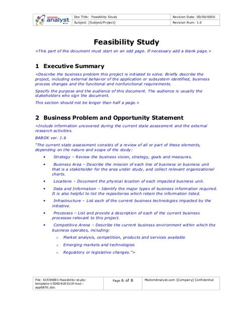 feasibility study template small business 61594881 feasibility study template