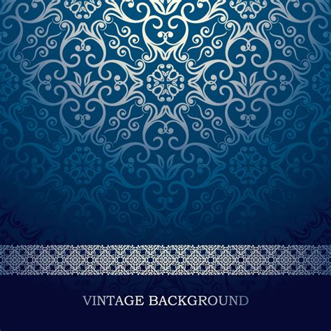 vintage pattern websites vintage blue pattern background vector free vector