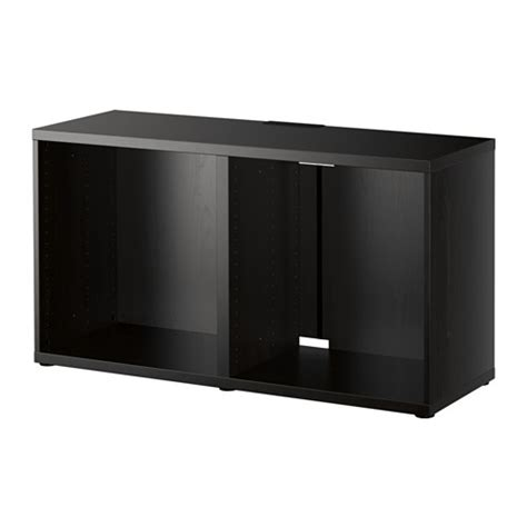 tv besta best 197 tv unit black brown ikea