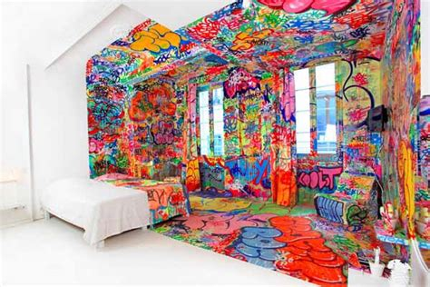 colorful bedroom decorating ideas  graffiti artists