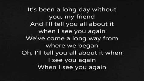 i you testo wiz khalifa see you again ft puth lyrics