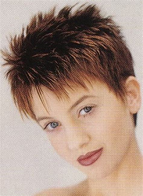 short spiky haircuts for round face women womens short short spikey hairstyles for women over 40