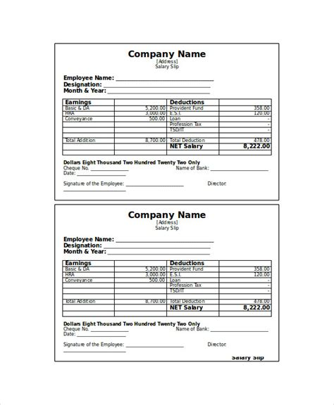 salary receipt template us 6 receipt voucher templates free psd vector ai eps