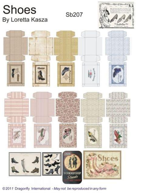 printable dolls house shop signs boutique box sheets