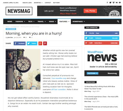 Theme Newspaper By Tagdiv 2014 | top 40 wordpress news themes for newspapers magazines