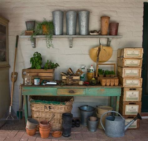 potting shed interior with rustic country design idea 58 awesome potting benches for every gardener shelterness