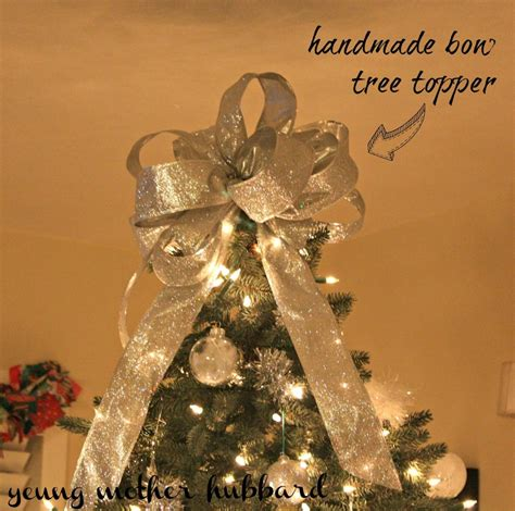 how to make a large tree topper bow in november