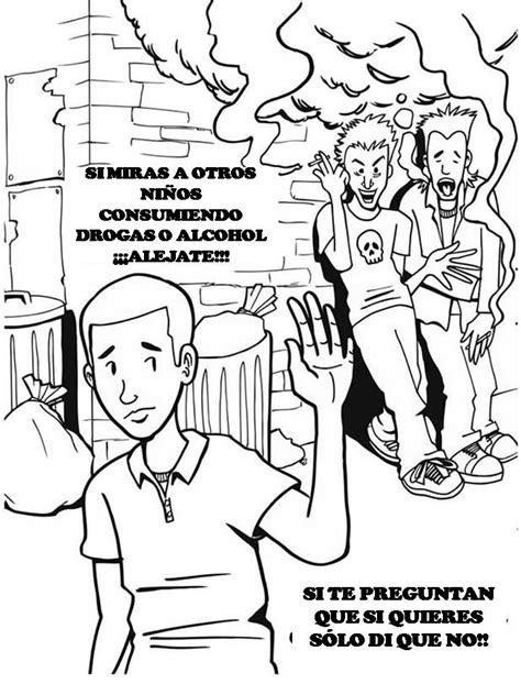 imagenes para pintar sobre la droga pinto dibujos drogas peligros de la drogadicci 243 n para
