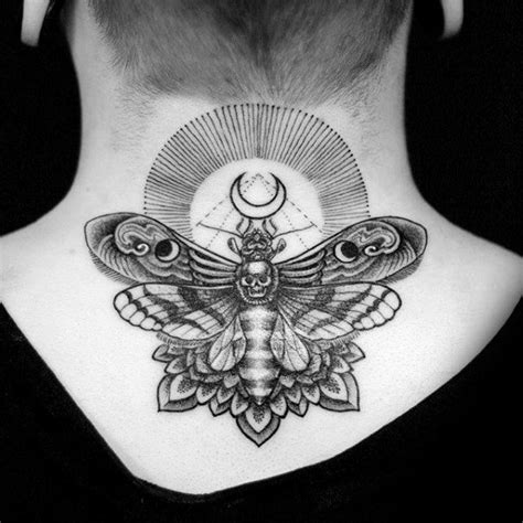 90 moth tattoos for men nocturnal insect design ideas