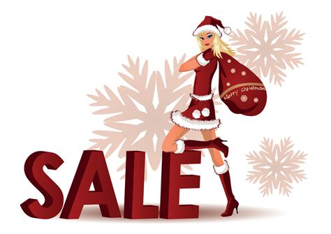 lovely christmas discount sales vector free vector 4vector