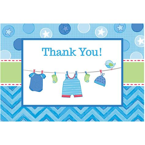Thank You Postcards Baby Shower by Shower With Baby Boy Postcard Thank You Cards 8