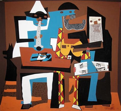 picasso paintings three musicians pablo picasso synthetic cubism 1881 1973