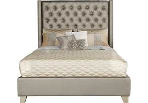sofia vergara silver 3 pc upholstered bed
