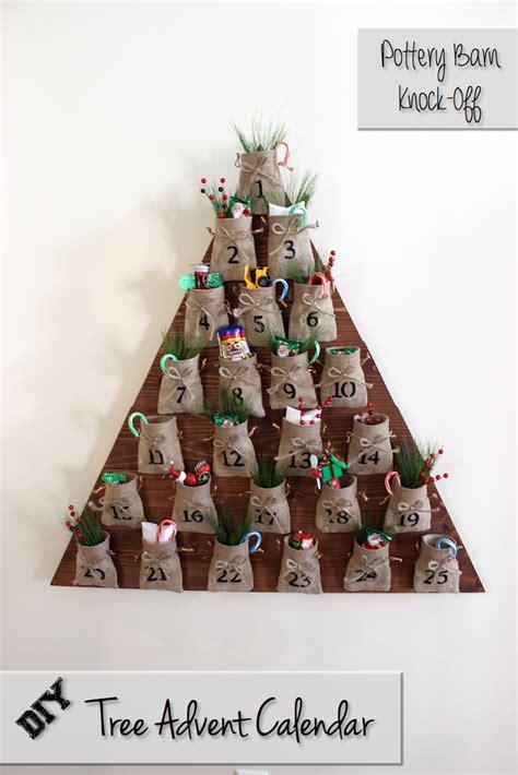 Tree Advent Calendar Diy Tree Advent Calendar Free Plans Pottery Barn Inspired