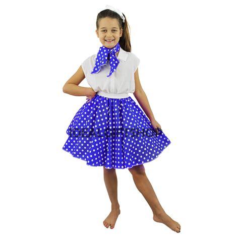 Sila Set Rok N Blus rock n roll skirt set fancy dress costume 1950s polka dot ebay