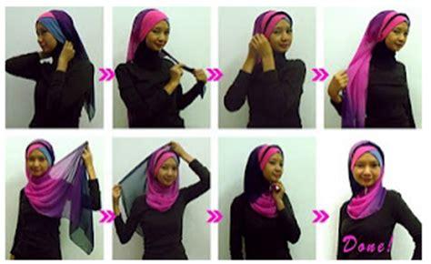 cara memakai selendang two layer cara memakai jilbab pashmina classic style hot girls
