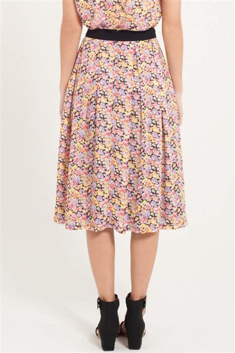 Floral A Line Midi Skirt floral a line midi skirt