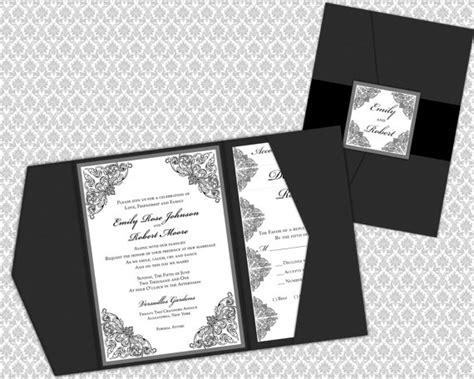 diy printable wedding invitation template set pocket