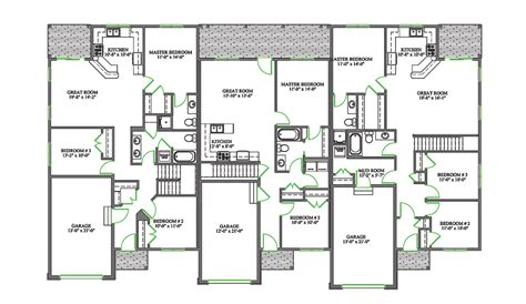 duplex house plans with garage in the middle duplex plans with garage in middle williamson home plan