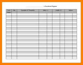register balance sheet template 7 checkbook balance sheet resumes great