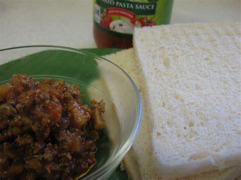 membuat roti tawar goreng tepung dapur rosi roti goreng isi saus bolognaise