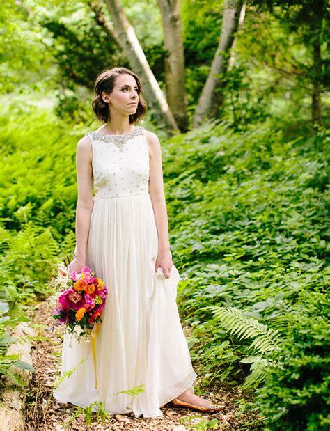 backyard wedding dress bright boho backyard wedding kika parker green