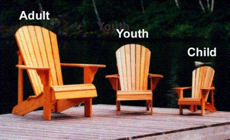 youth size adirondack chair plan downloadable