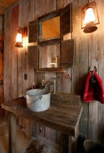 Rustic Bathroom Lighting Ideas 5 Ultra Rustic Bathrooms