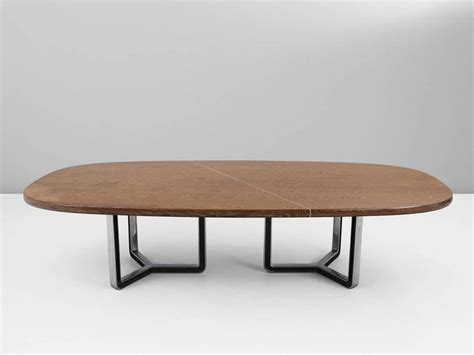 Large Oval Boardroom Table Large Oval Conference Table In Weng 233 For Tecno For Sale At 1stdibs