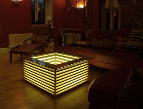 Oak Kitchen Design sqill illuminating coffee table by david chapman glows