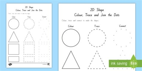 triangle pattern to trace 2d shape colour trace and join the dots activity maths in
