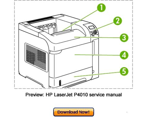 Hp Laserjet P4010 P4510 Service Repair Manual Download