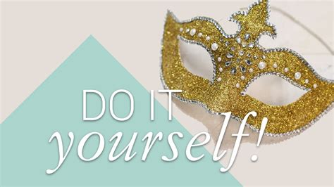 diy venetian mask with swarovski crystals