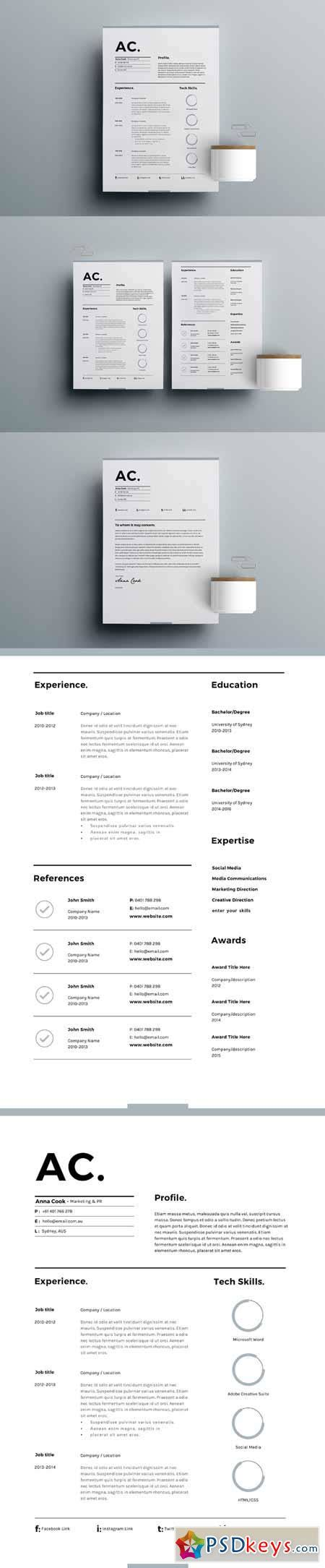 3 Page Resume Template by Resume Template 3 Page Cv Template 636078 187 Free