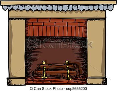 Fireplace Graphic by Vector Clipart Of Fireplace Illustration Unlit Fireplace