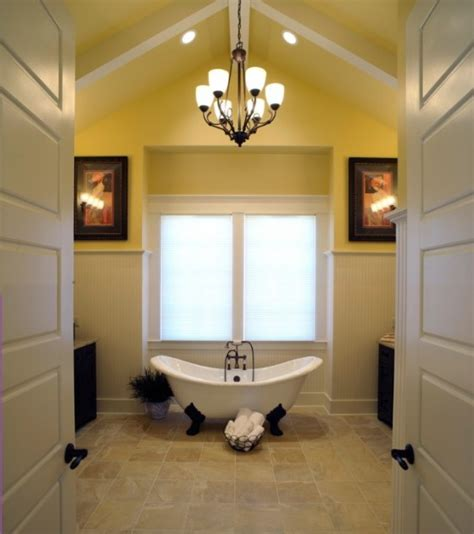 bright  sunny yellow ideas  perfect bathroom