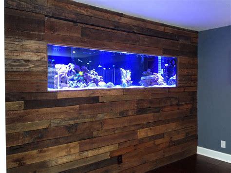 wall aquarium pallet board wall with salt water aquarium our favorite