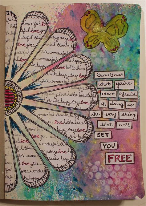 Art Design Education Journal | art journaling phobia frosted designs