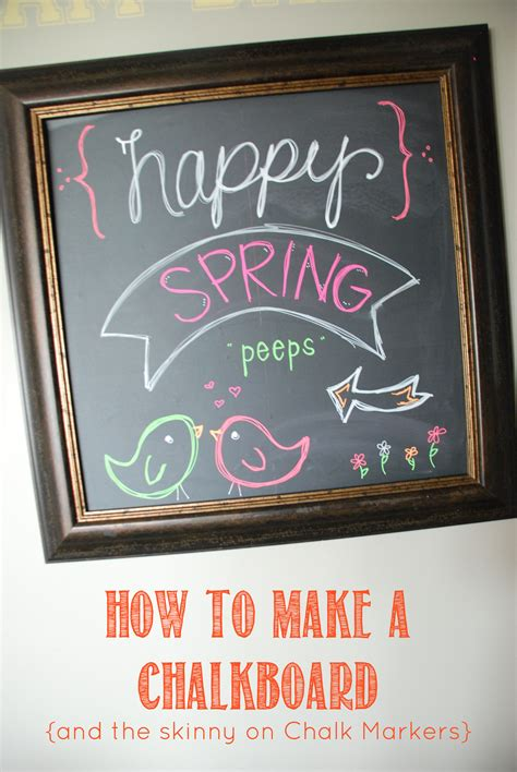 how to make a chalkboard and chalk markers the creative mom