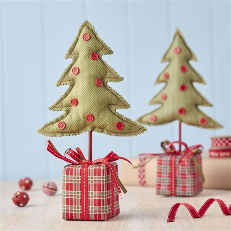 fabric table top christmas tree by the christmas home