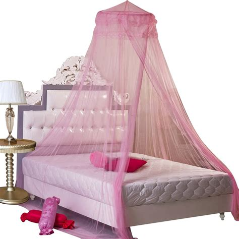 Pink Canopy Bed New Lace Curtain Dome Bed Canopy Netting Princess Mosquito Insect Net Pink Ebay