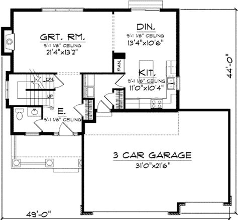 open floor house plans two two with open floor plan 89725ah architectural