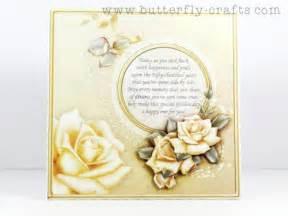 golden wedding anniversary roses greeting card handmade butterfly crafts on artfire