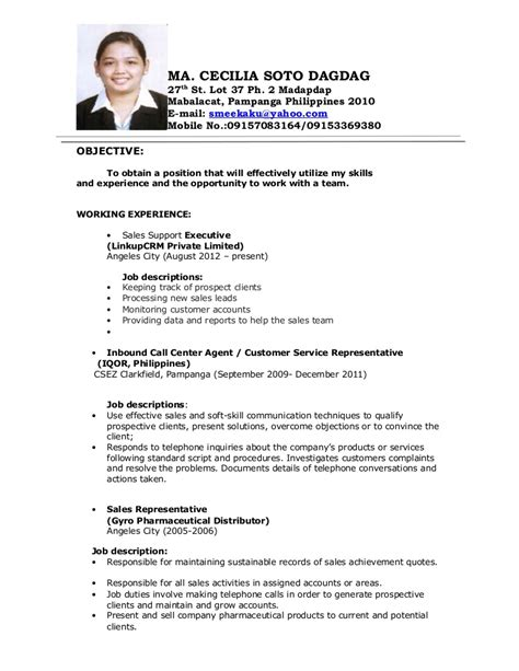 sle resume for call center applicant without experience image result for objectives in resume for call center no experience resume