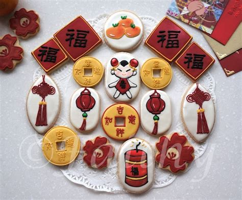 new year ribbon cookies new year cookies www tablescapesbydesign https