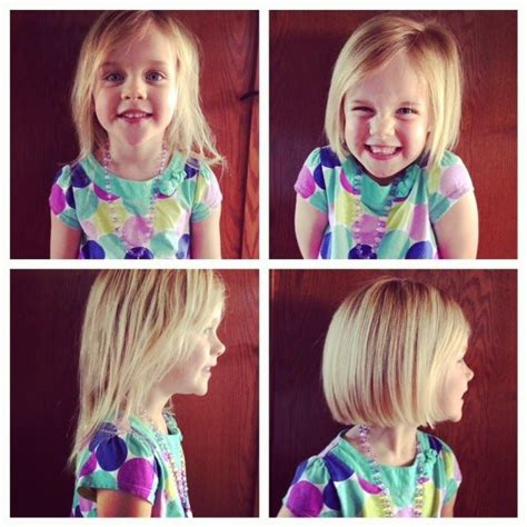 haircuts for girls with thin hair 4 years old love a cute bob on little girls zion looks sooo cute with