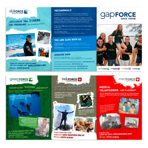 volunteer brochure template bold colorful brochure design for gapforce by nic