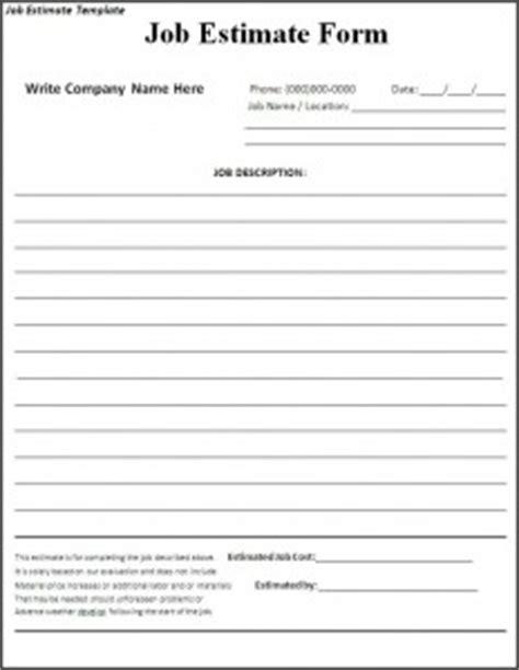 job proposal templates for word job estimate template knight pic pinterest