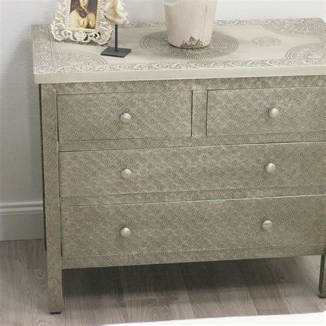 Metal Embossed Dresser by Kiran Embossed Metal Dresser World Market
